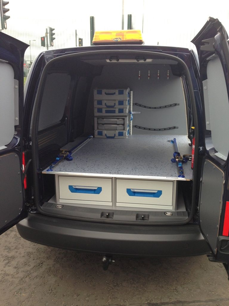 Vw Caddy Maxi Sortimo Racking With Xl Drawer System False Floor  # Muebles Sortimo