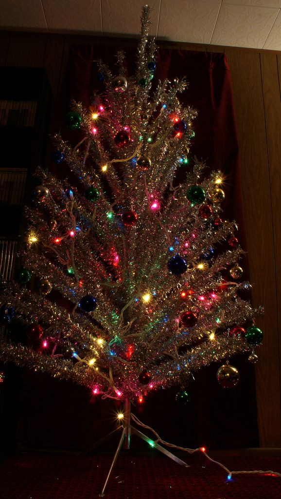 Silver Christmas Tree With Color Wheel Bing Images Holiday