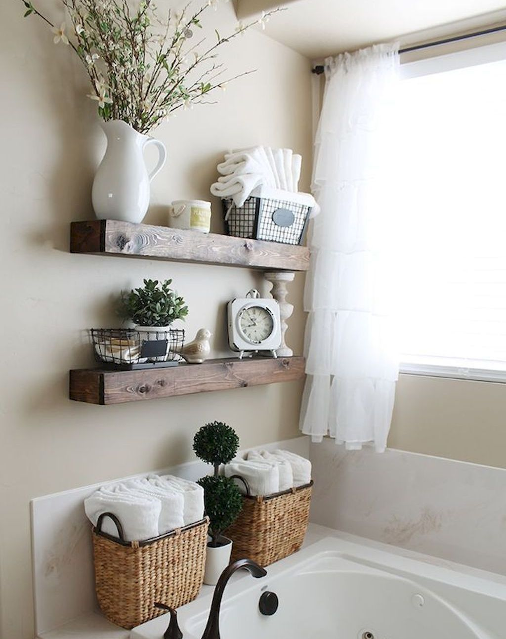 110 spectacular farmhouse bathroom decor ideas (46 | bathroom ideas ...