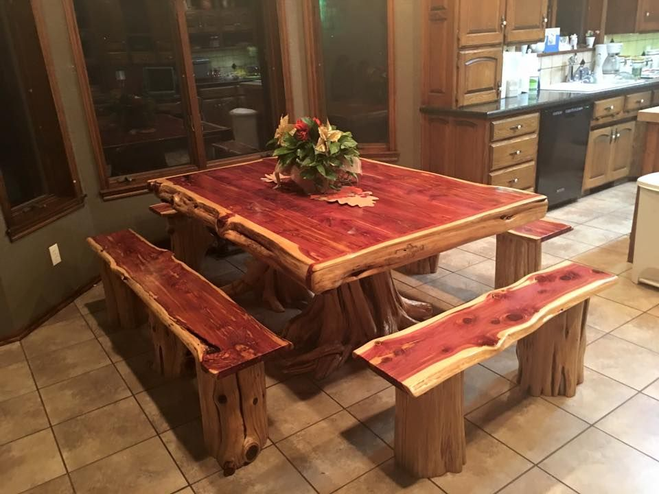 Beautiful Cedar Log Dining Table Wild West Creations Wildwestcreations@yahoo.com