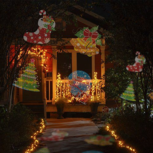 ANPHSIN Projector Lights 15 Pattern Lens Switchable Colorful Outdoor