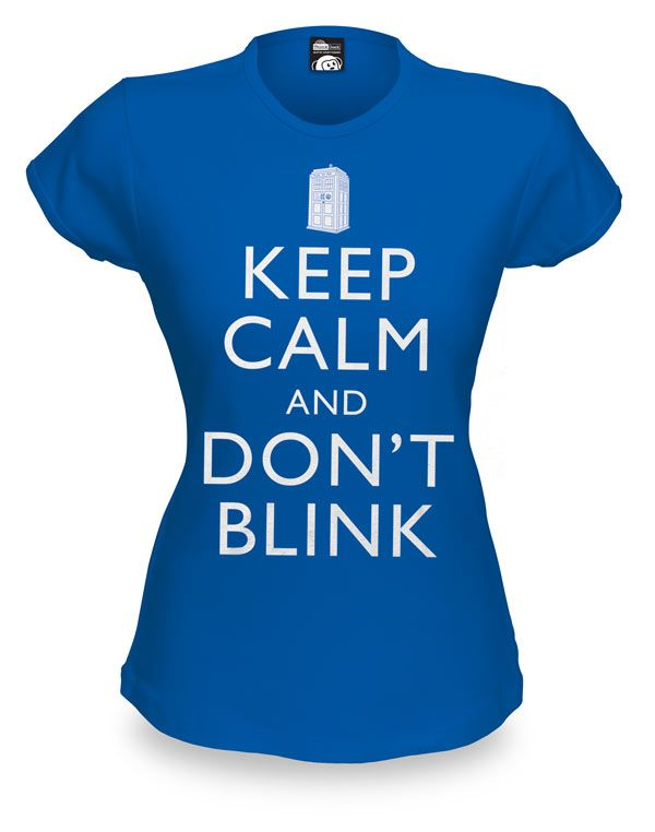 da31a939d ThinkGeek    Keep Calm and Don t Blink Babydoll