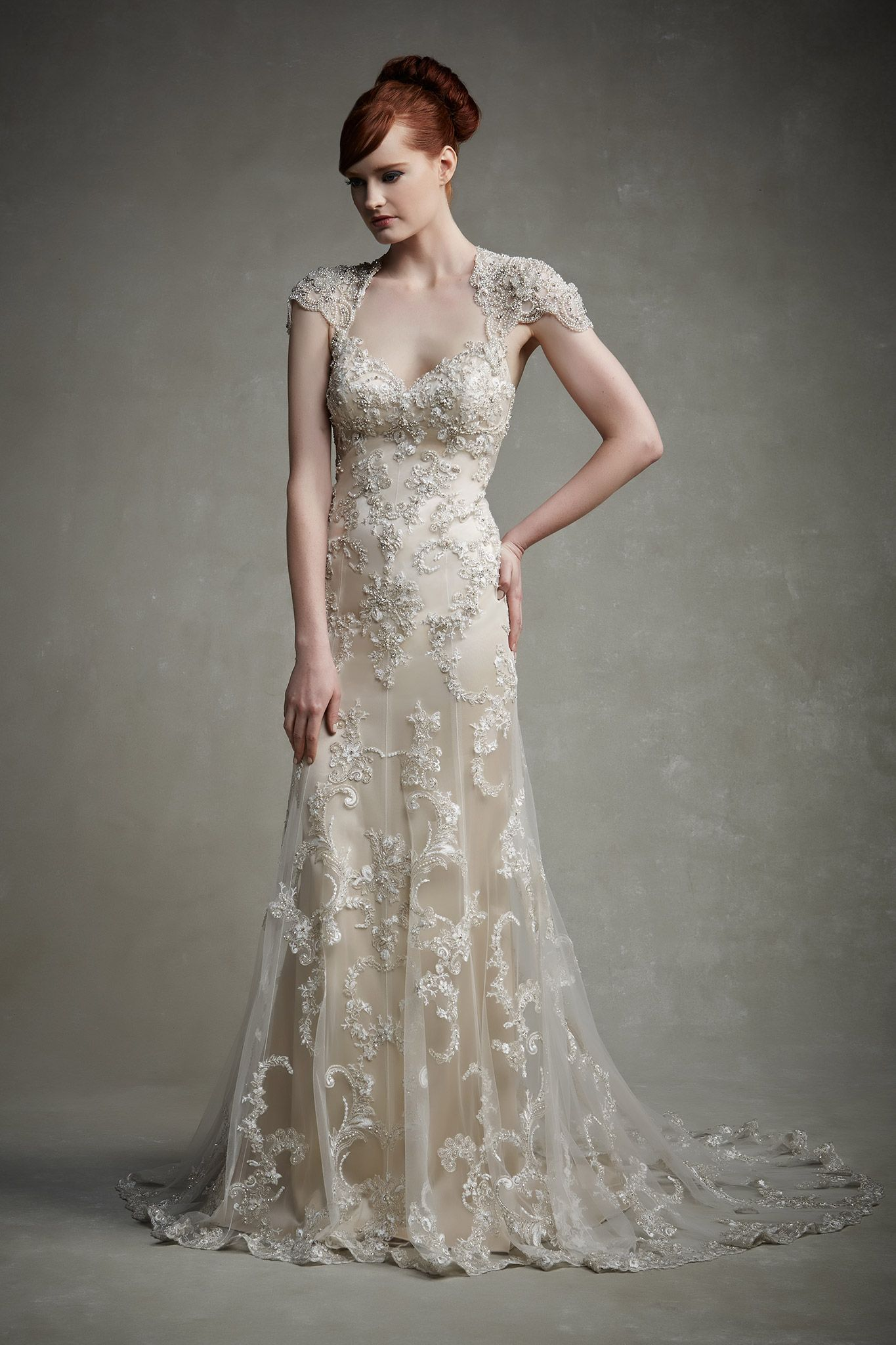 The Biggest Gown Trends From The 2015 Bridal Runway Shows Wedding Dress Champagne Enzoani Wedding Dresses Wedding Dresses