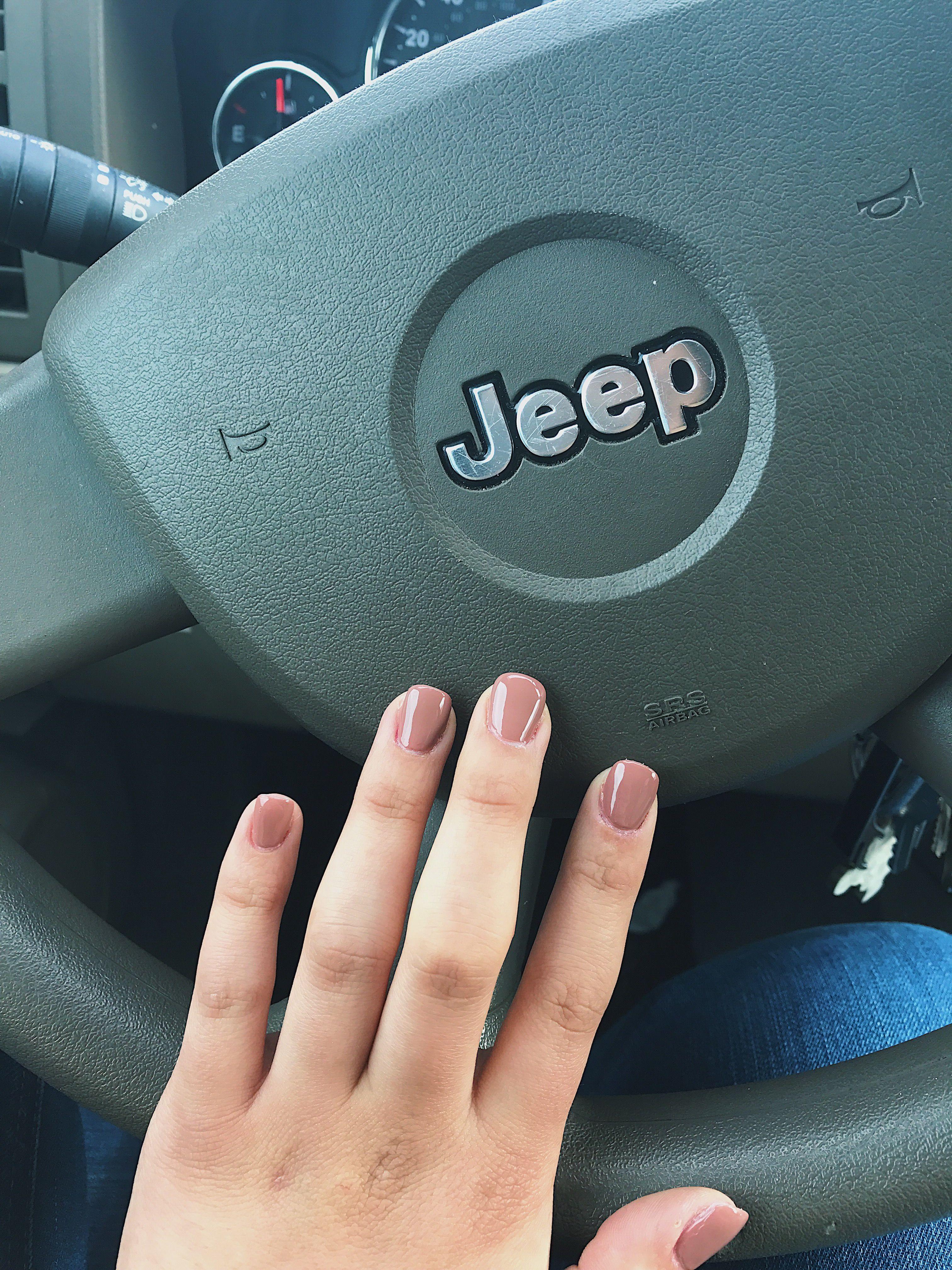Short acrylic nude nails set. Color: Butternut Squash DND.   Beauty ...
