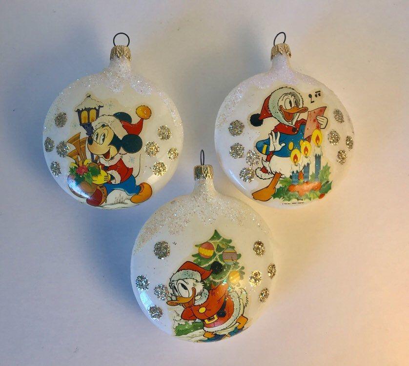 Vintage Disney Kurt Adler Blown Glass Christmas Ornaments Set Etsy Christmas Ornament Sets Glass Christmas Ornaments Blown Glass Christmas Ornaments