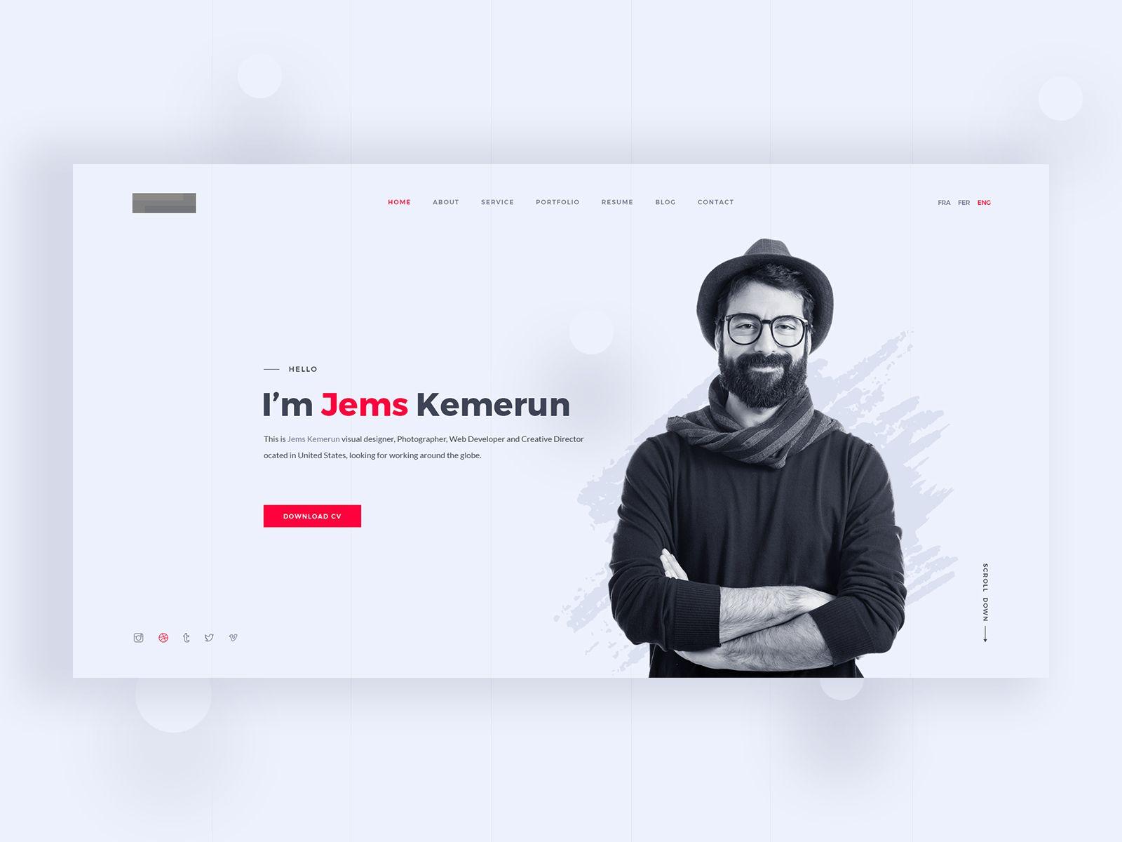 Personal Portfolio Website Concept In 2020 Portfolio Website Design Portfolio Web Design Personal Website Portfolio