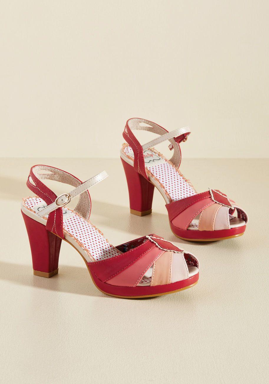 Shades Of Sweetness Peep Toe Heel Peep Toe Heels Vintage Inspired Shoes Heels