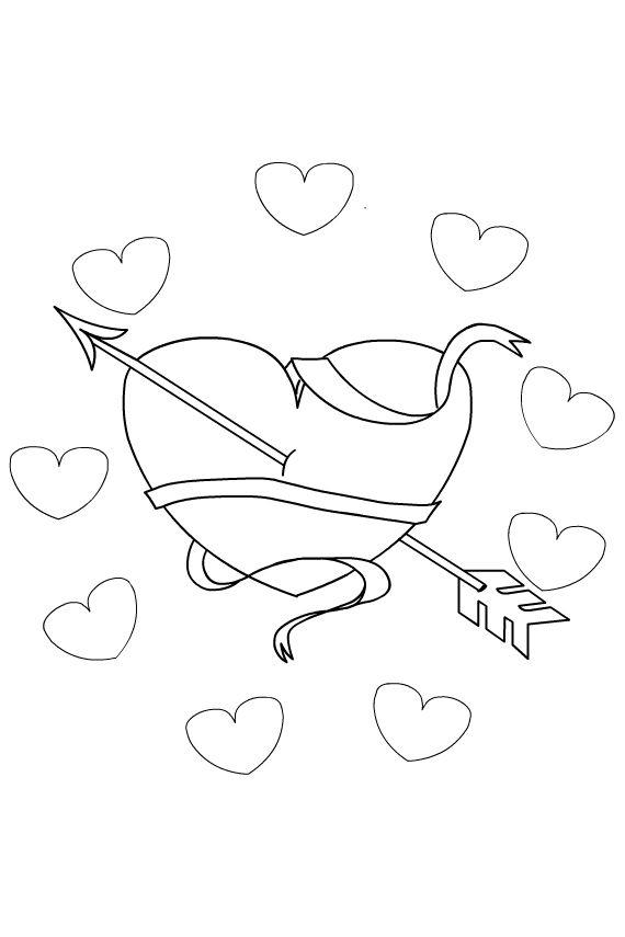 kleurplaat hart valentijn moederdag vaderdag kit