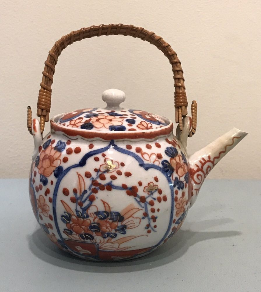 Miniature Ceramic Teapot Painted Cermic Set Handcraft Decorative