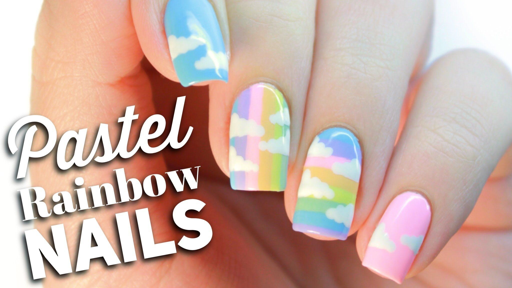 Pastel Rainbow Nail Art - Rainbow Nails | Pinterest - Nagelkunst ...