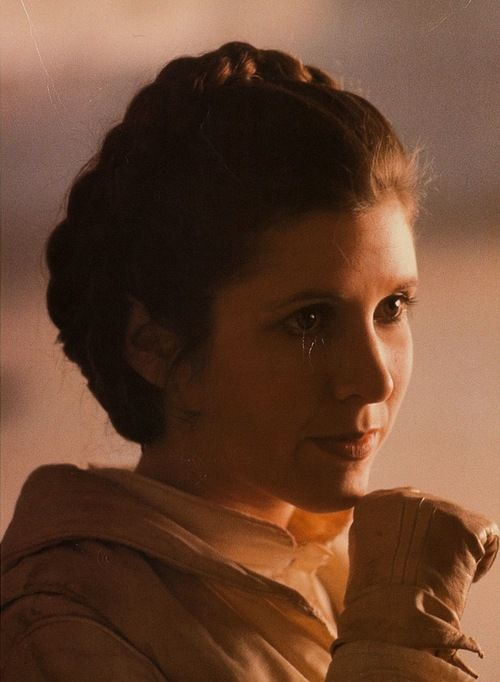 "Carrie Fisher in ""Star Wars""..."