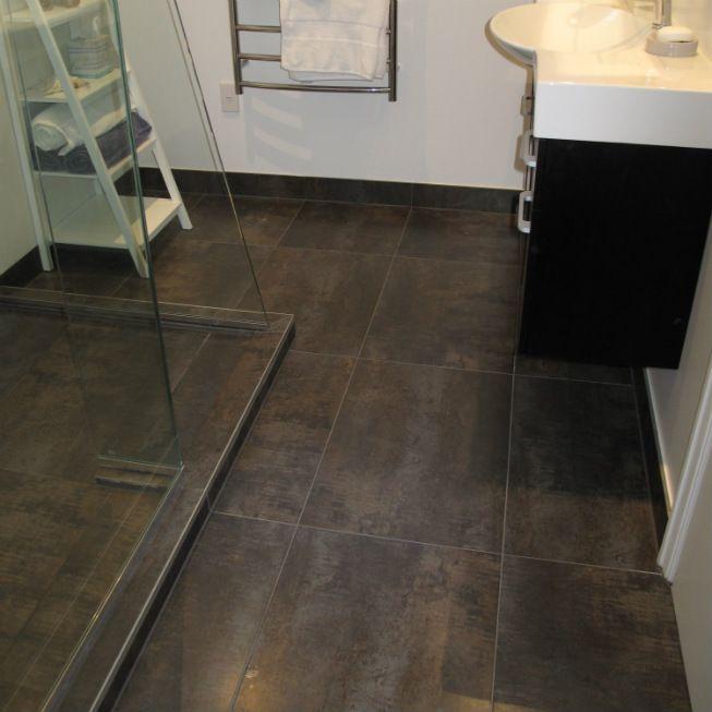Modern Bathroom Vinyl Flooring: Venis Ferroker Tiles, Jacobsen NZ