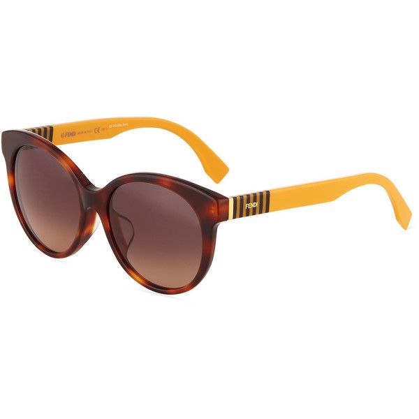 30aac6e3a3 Fendi Modified Oval Acetate Sunglasses ( 101) ❤ liked on Polyvore featuring  accessories