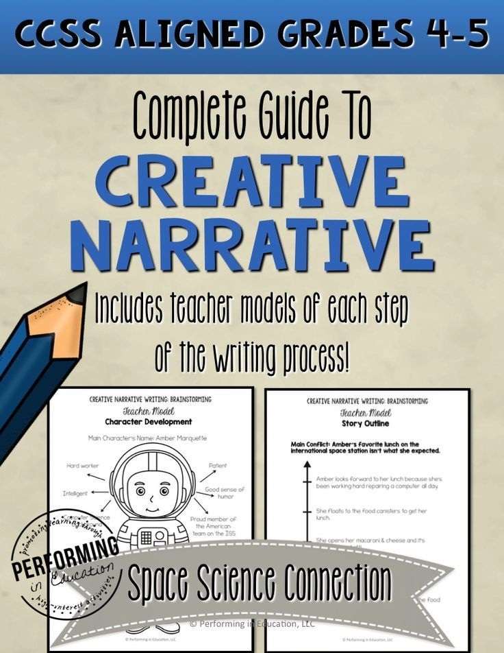 This is a great guide for teaching creative narrative writing! It includes the prompt, teacher directions, and all student printables.