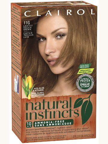 Best Golden Brown Hair Dye Clairol Natural Instincts Clairol Natural At Home Hair Color