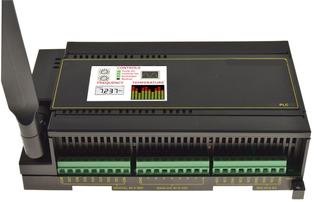 Industrial plc open source arduino mega din rail