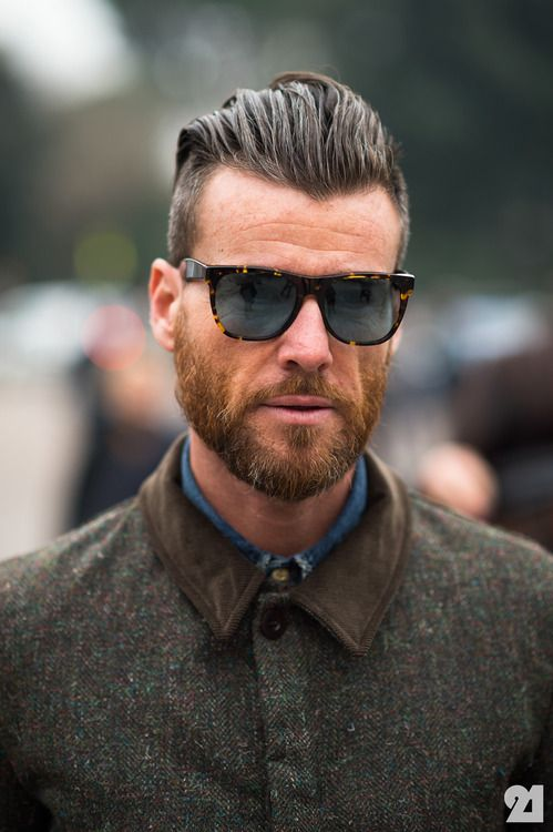 Hip. True Style. Side Cut. Tough. Beard. Manly. Fashion. Sunglasses.  Polarized. +1