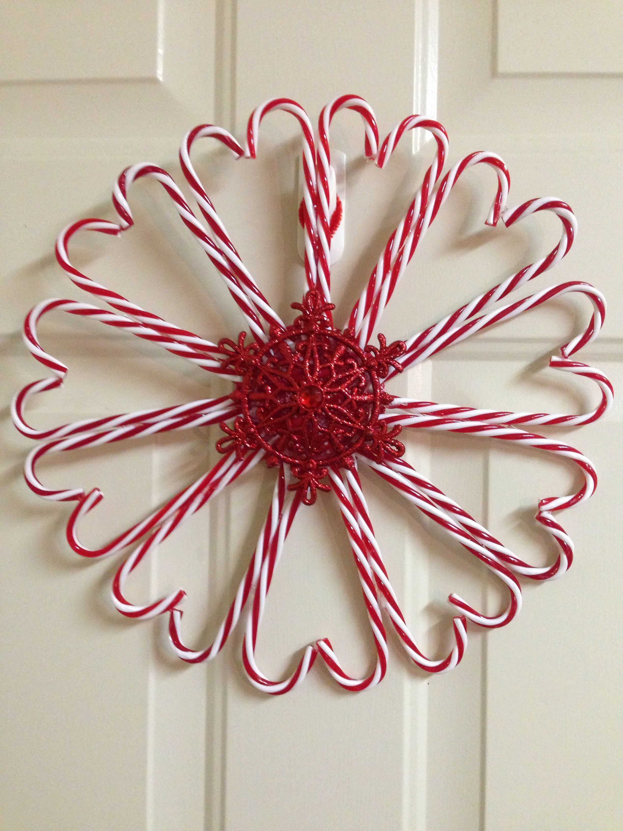 Dollar Tree Candy Cane Wreath Candy Cane Crafts Candy Cane