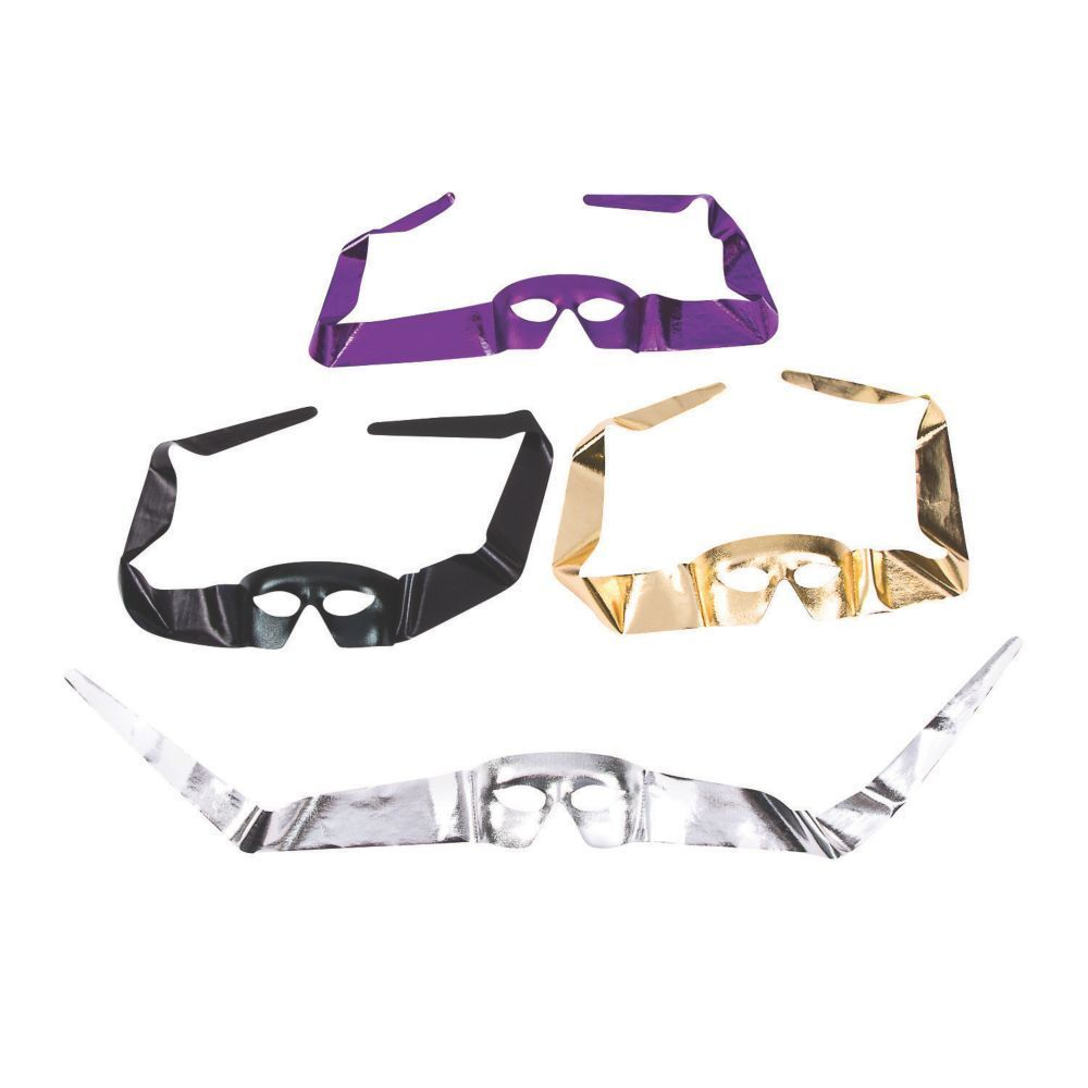 Nothing Adds An Air Of Mystery And Intrigue Quite Like The: Mardi Gras Tie-On Masks