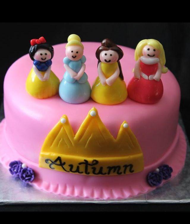 Disney Princess smash cake Happy FIRST Birthday Autumn Renees