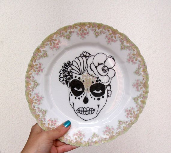 Vintage plate home decor. por Santasofiashop en Etsy