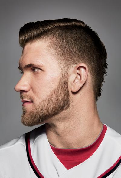 Bryce Harper Hairstyle : bryce, harper, hairstyle, Bryce, Harper:, Learner, Harper, Haircut,, Baseball, Haircuts,