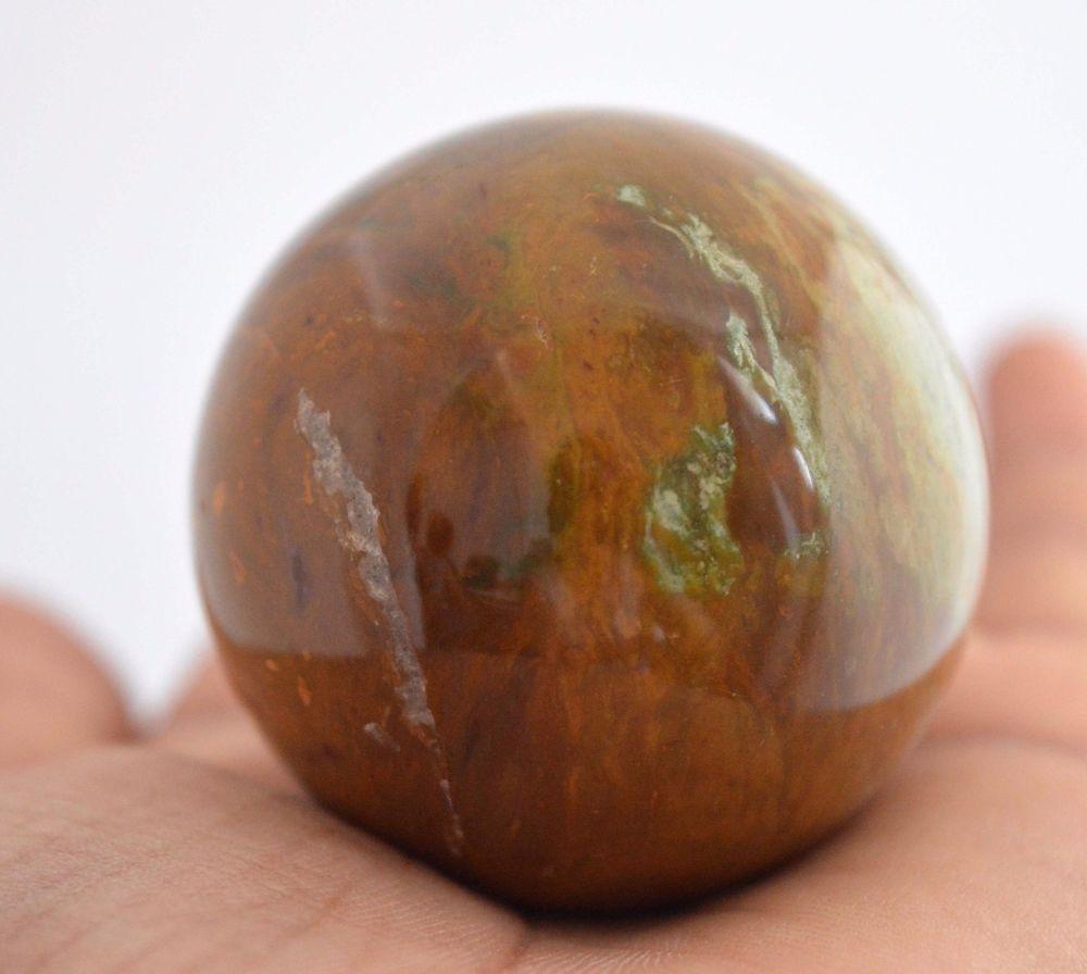 605 Cts Huge Tiger Eye Gemstone Ball Stone Size 43 mm For Healing Energy E306 #valueforbucks