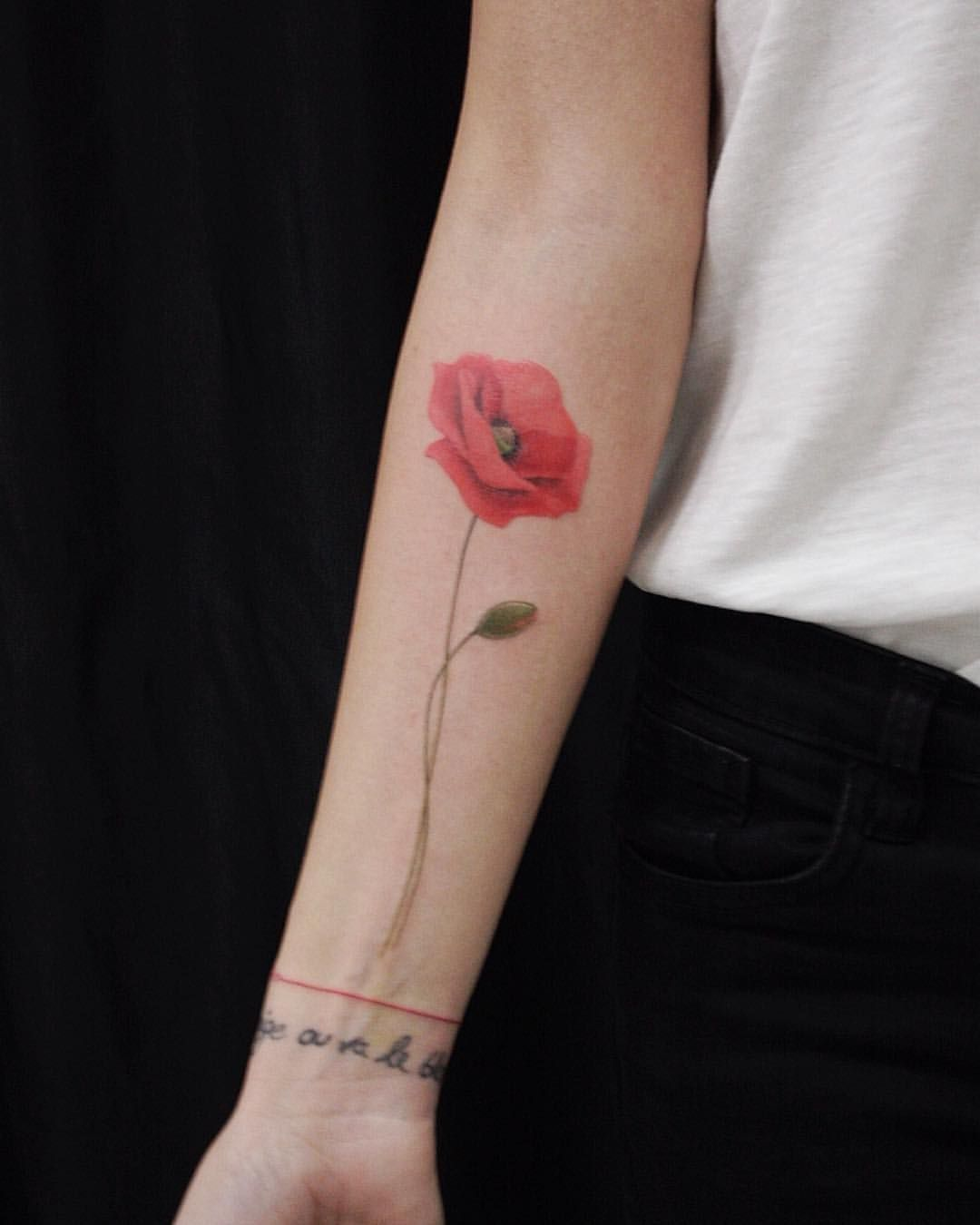 Mi Piace 247 Commenti 3 Disegnarti Su Instagram Disegnarti Poppytattoo Delicate Flowertattoo Botanica Tattoos Poppies Tattoo Red Flower Tattoos