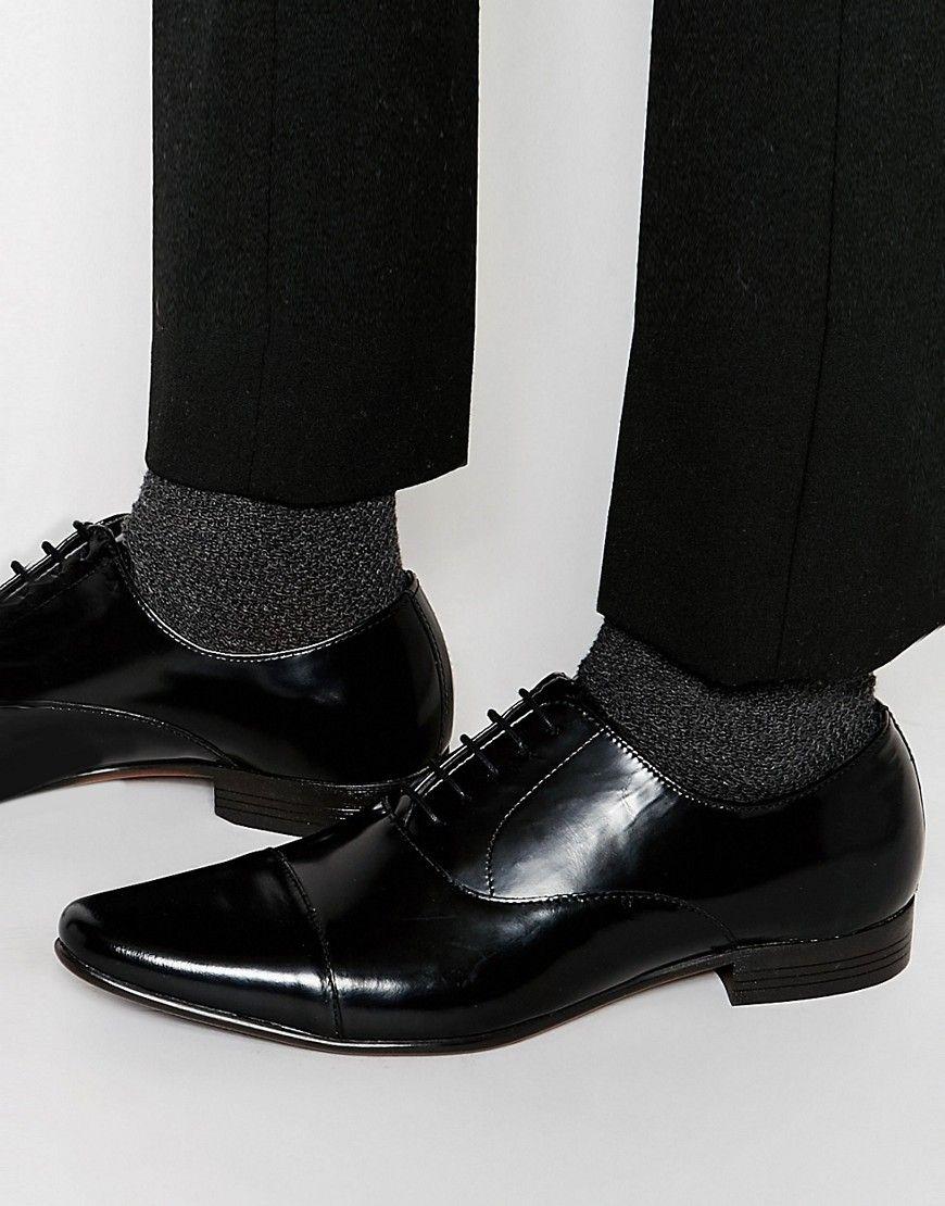 Buy Men Shoes / Asos Oxford Shoes Black Leather