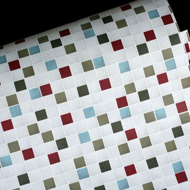 Cheap auto adhesivo de papel paredes vinilo pvc mosaico ...