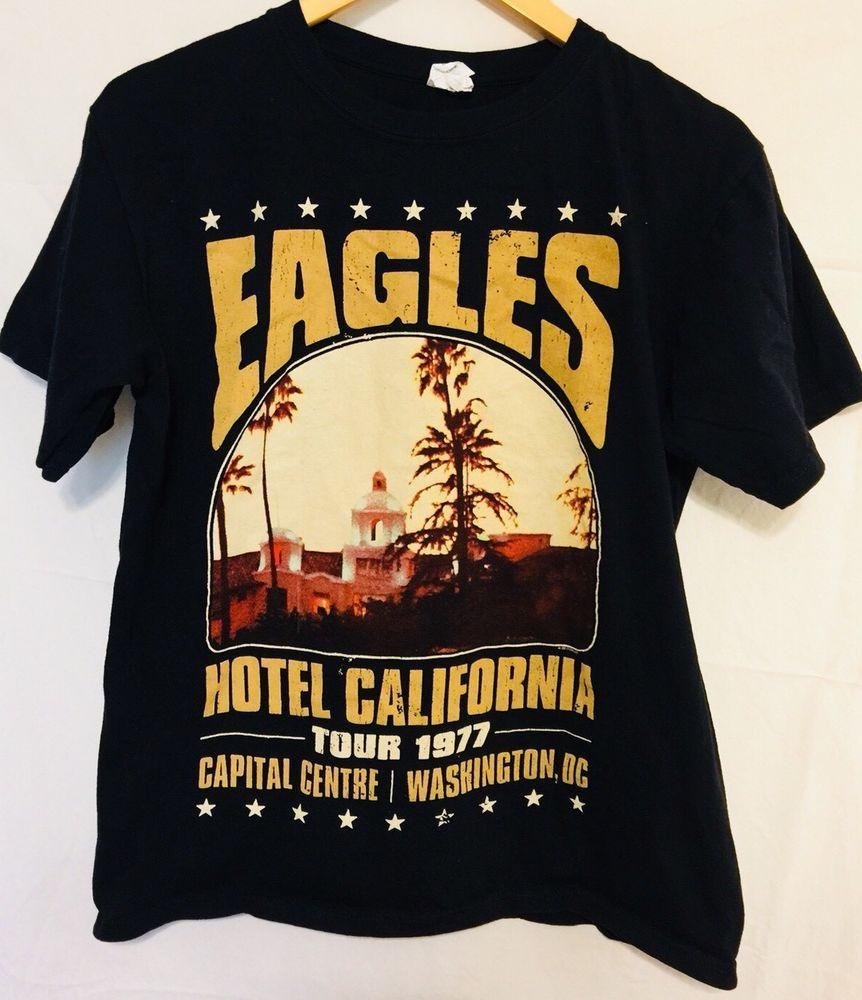 95908f99 The Eagles Rock Band at the Hotel California Retro black t shirt M | eBay