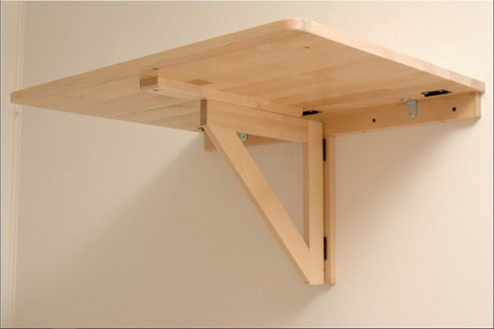 Diy Wall Mounted Folding Table Desk Mount Hostgarcia