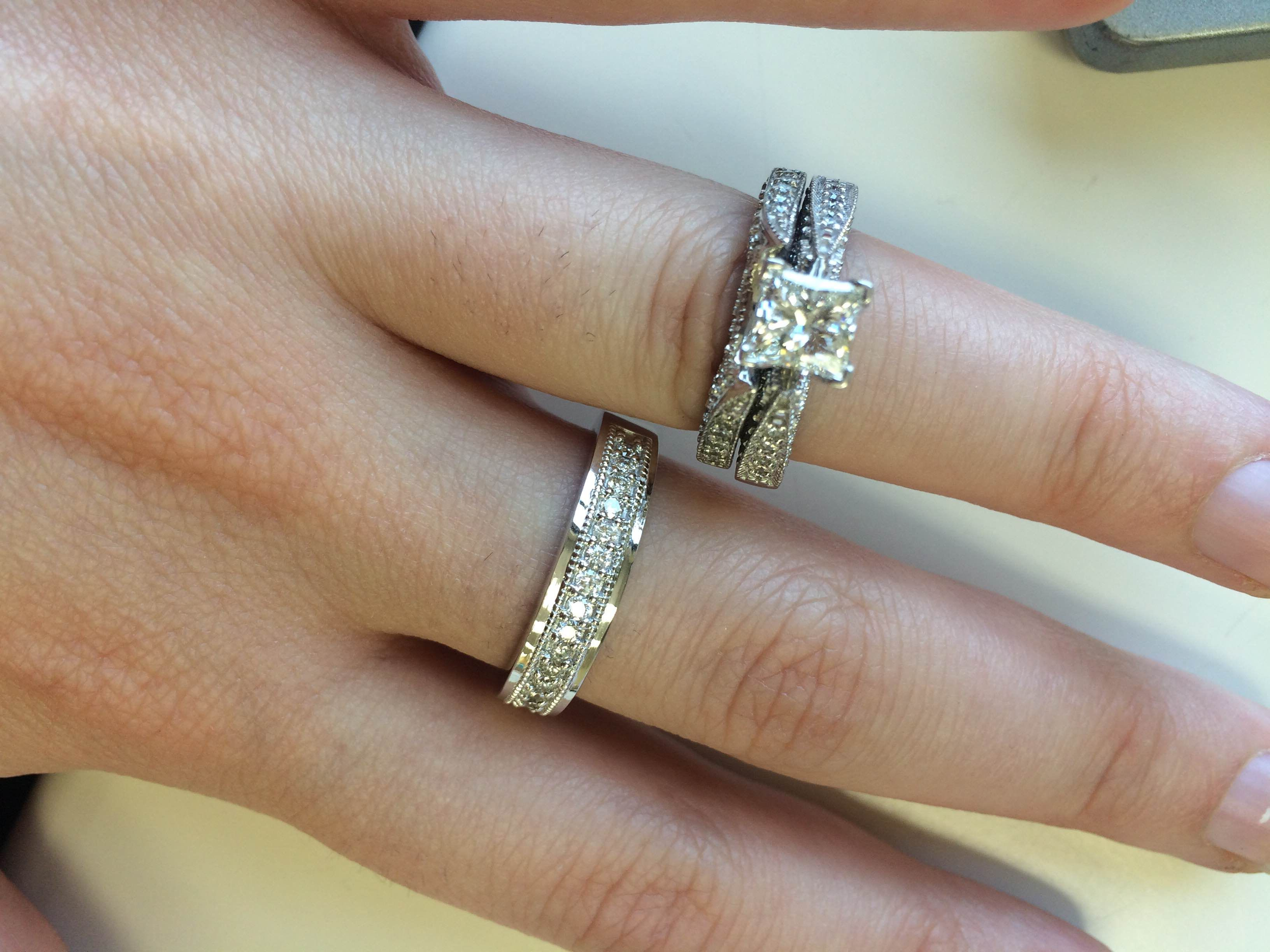 diamond weight ring wedding is rings princess quad cut img bridge total twins set topic yours find
