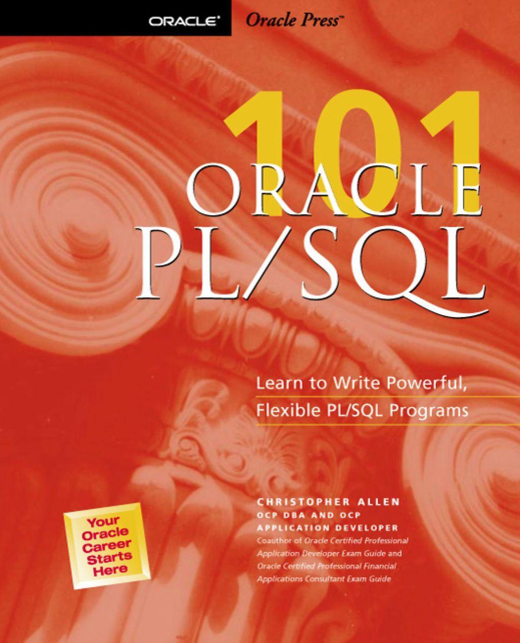 Oracle plsql 101 ebook pl sql sql learning to write