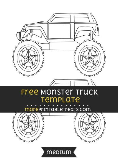 Free Monster Truck Template  Medium  Shapes And Templates