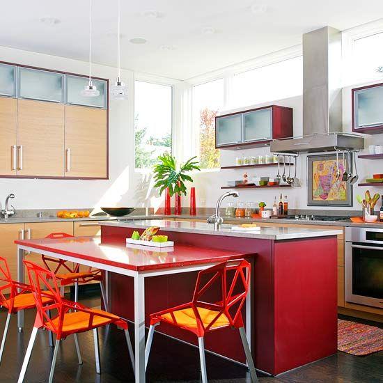 moderna e vermelha!