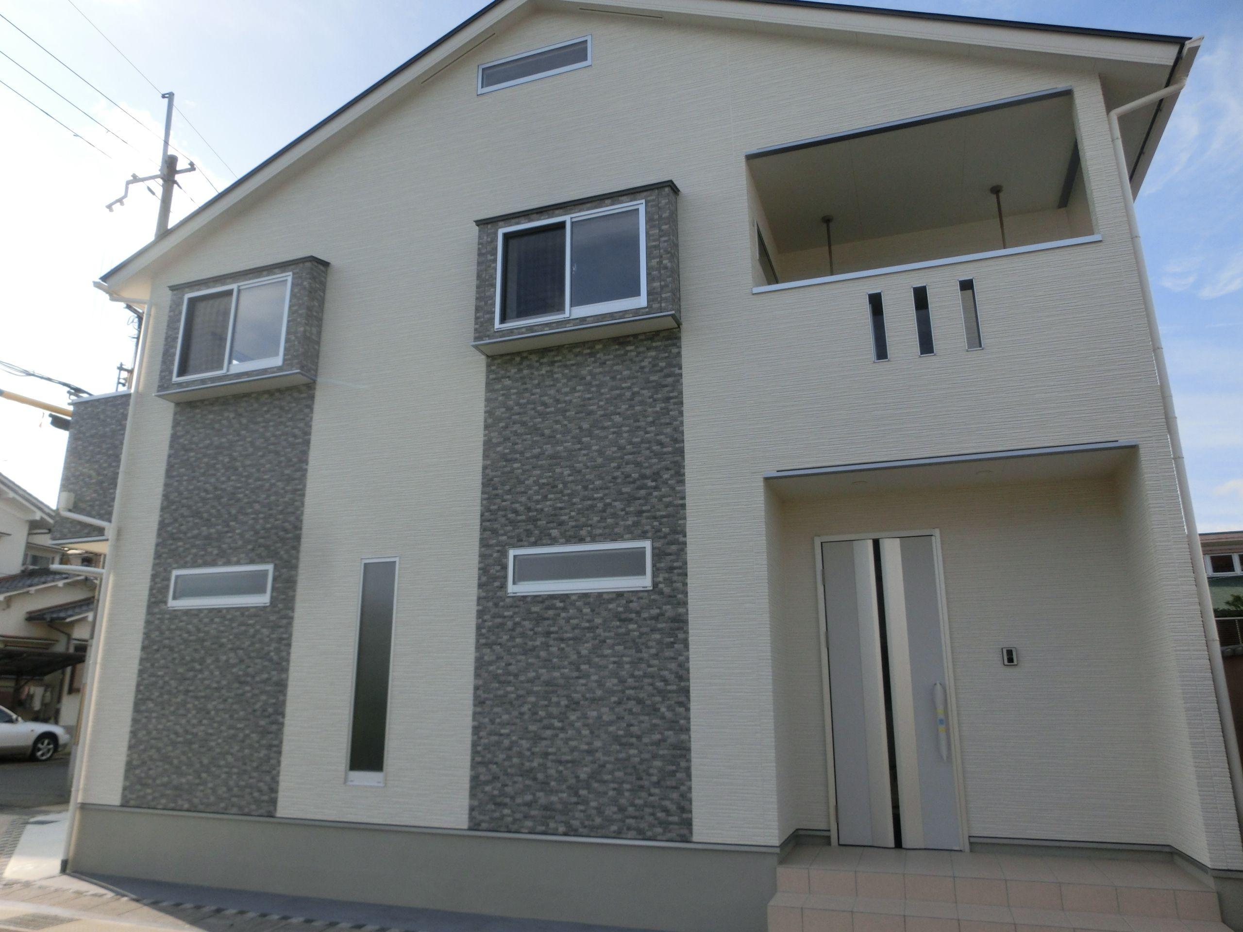 新築 戸建 2階建 外壁 サイディング 窓 暮らし 住まい 窓 施工 戸