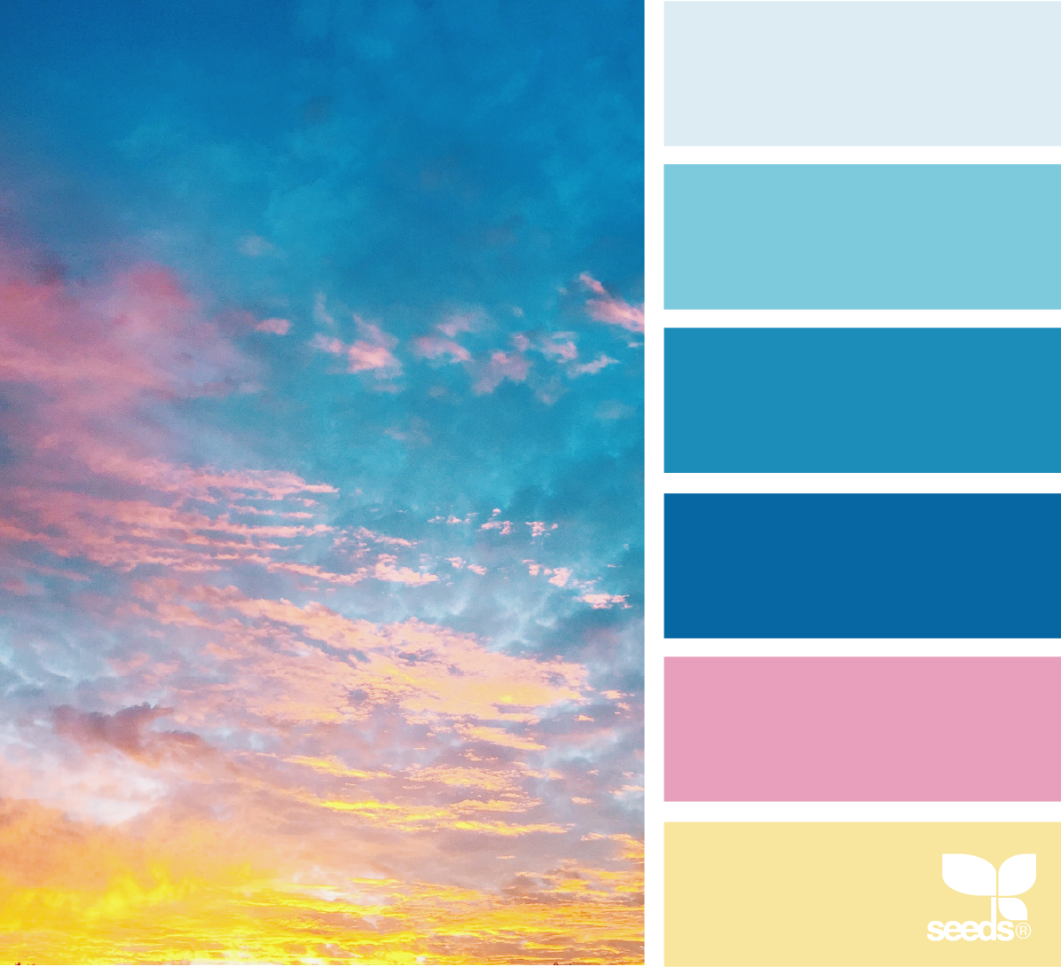 Cand Sky Via Designseeds Color Pallets Colour Board Blue Palette