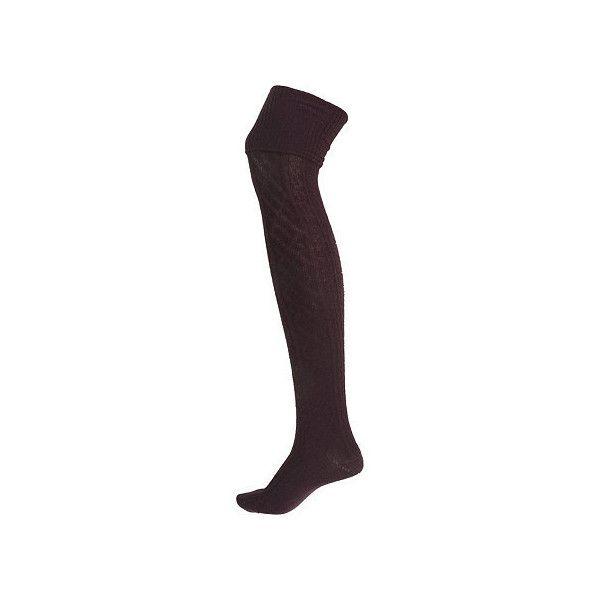 purple over the knee cable knit wooly socks (150 ARS) ❤ liked on Polyvore featuring intimates, hosiery, socks, cable over the knee socks, over the knee cable knit socks, purple socks, cable socks i above the knee socks