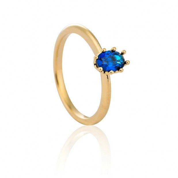 my treasure ring gold in blue | astrid & miyu