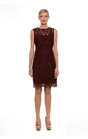 PL0073- Burgundy Lace Bow Back Dress – Alexia Admor Dresses