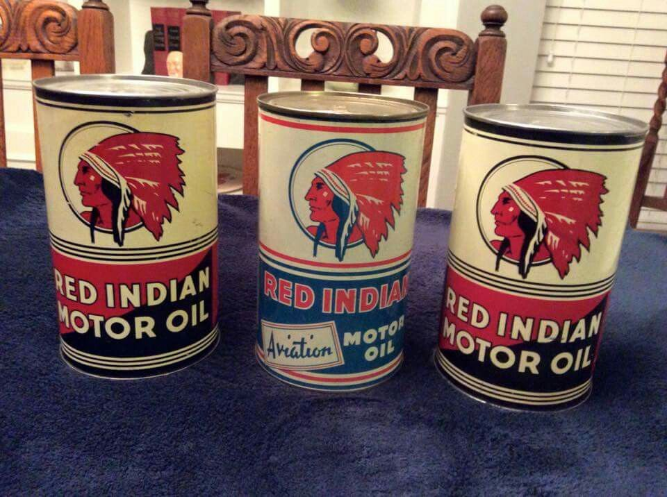 Rare Red Indian Motor Oil Cans Luxury Cars Pinterest
