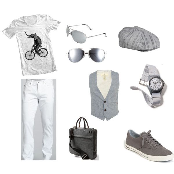 White and Gray Summer Look