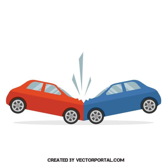 Road Accident Vector Image Vector Images Vector Free Accident