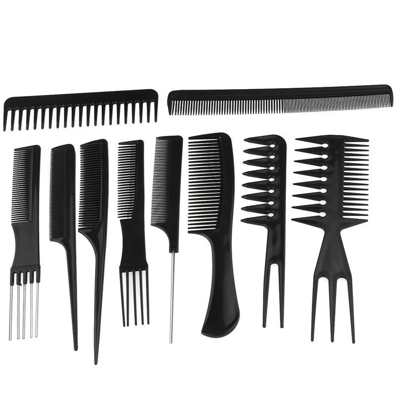 10pcs Professional Hair Styling Combs Hairdresser Accessories Tools Set Hair Tool Set Professional Hair Tools Styling Comb