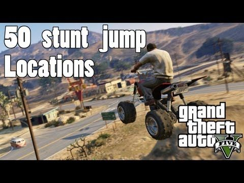 Gtav 50 Stunt Jump Locations Interactive Map Grand Theft