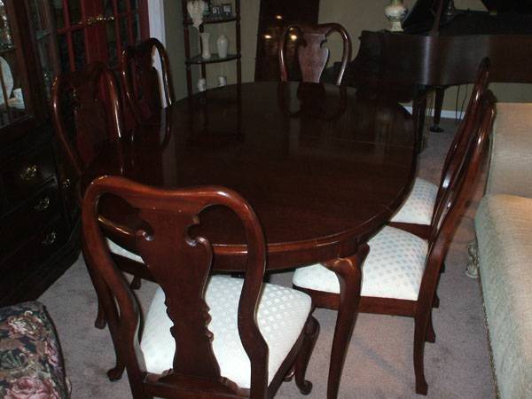 Beautifulle Thomasville Cherry Dining Room Table 8 Chairs Table Pad Collectors Cherry Collec Cherry Dining Room Sets Metal Dining Room Dining Room French