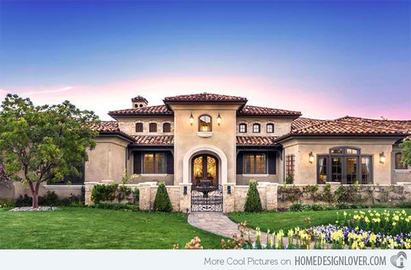 15 Sophisticated And Classy Mediterranean House Designs Home Design Lover Mediterranean House Designs Spanish Style Homes Mediterranean Style Homes
