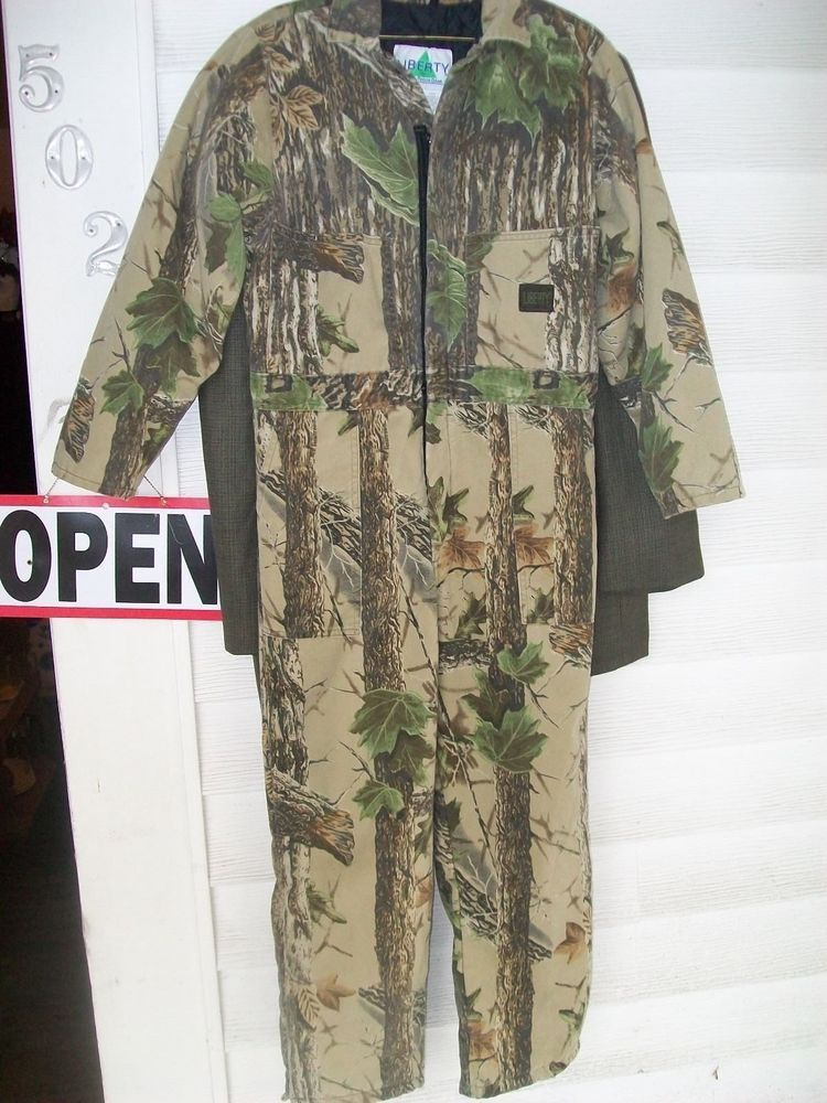 145d0099bfbba 18 youth Boys Liberty Realtree Multi-Color Camouflage Insulated Coveralls # Realtree
