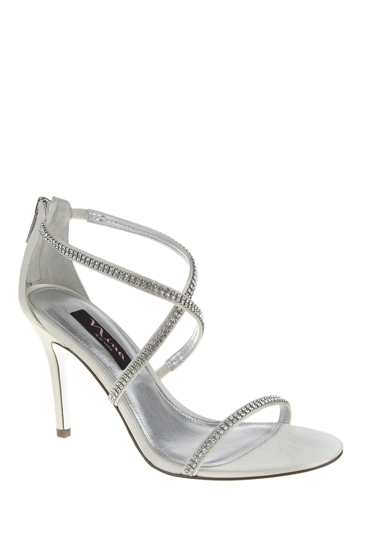 a709bfd0cd9f Silver Dress Sandals. The perfect wedding shoe.